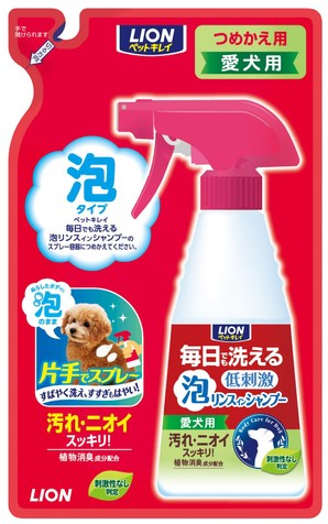 [ライオン商事] 毎日でも洗える泡リンス愛犬用つめかえ用