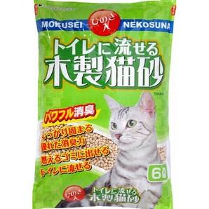 NMN-6 トイレに流せる木製猫砂 6L