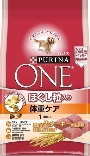 [ネスレピュリナ] ピュリナワン ドッグ ほぐし粒入り 1歳以上 体重ケア ターキー 2.1kg