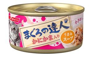 [日清ペットフード] まぐろの達人 かにかま入り うまみスープ 80g (TC7)