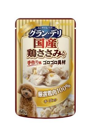 [ユニチャーム] 愛犬元気グラン・デリパウチ 成犬用 チーズ・鶏ささみ入り 60g