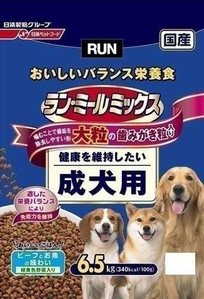 [日清ペットフード] ラン・ミールミックス 大粒成犬用 6.5kg