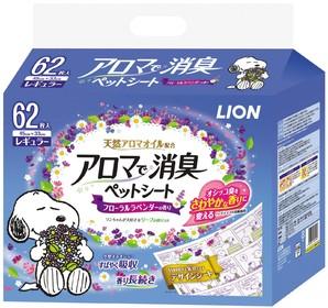 [ライオン商事] アロマで消臭ペットシートレギュラー62枚