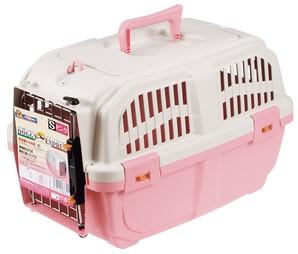 [ドギーマンハヤシ] イタリア製ハードキャリー DOGGY EXPRESS S ピンク