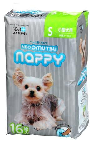 [コーチョー] NEO OMUTSU ネオ・オムツ Nappy S16枚 小型犬用