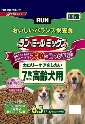 [日清ペットフード] ラン・ミールミックス 大粒7歳からの高齢犬用 6.5kg