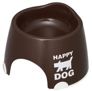 [伊勢藤] 小型犬専用 フードボール (すべり止め付) 茶
