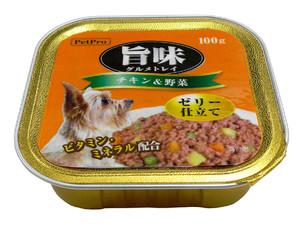 [ペットプロ] 旨味グルメ トレイ チキン&野菜 100gX24個
