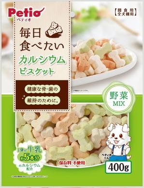 [ペティオ] 毎日食べたいカルシウムビスケット 野菜MIX 400g W12934