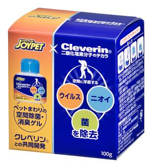 [ジョンソントレーディング] JOYPETxCleverin ペットまわりの空間除菌・消臭ゲル 100g