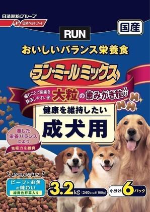 [日清ペットフード] ラン・ミールミックス 大粒成犬用 3.2kg