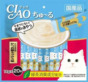 [いなばペットフード] CIAO ちゅ~る とりささみ かつお節ミックス味 14g×20本