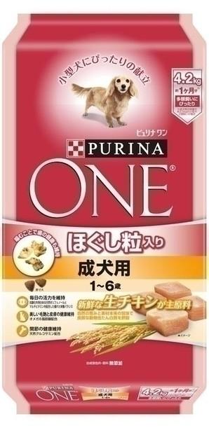 [ネスレピュリナ] ピュリナワン ドッグ ほぐし粒入り 1~6歳成犬用 チキン 4.2kg