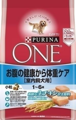 [ネスレピュリナ] ピュリナワン ドッグ 1~6歳 室内飼犬用 お腹の健康から体重ケア 小粒 チキン 2.1kg