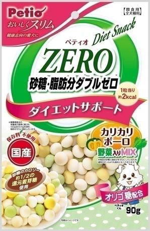 [ペティオ] おいしくスリム 砂糖・脂肪分ダブルゼロ カリカリボーロ 野菜入りミックス 90g