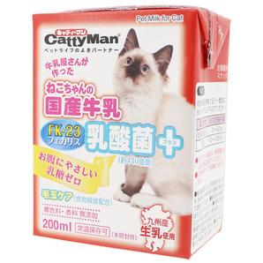 [ドギーマンハヤシ] ねこちゃん国産牛乳 乳酸菌プラス 200ml
