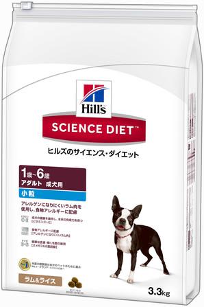 [日本ヒルズ] SDアダルトラム&ライス小粒成犬用 3.3kg