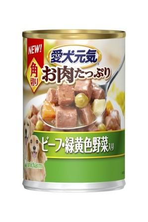 [ユニチャーム] R愛犬元気缶角切りビーフ緑黄色野菜375g