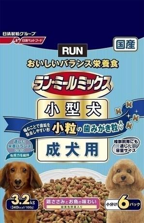 [日清ペットフード] ラン・ミールミックス 小型犬1歳~6歳までの成犬用 3.2kg