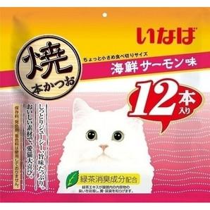 [いなばペットフード] いなば焼本かつお12本海鮮サーモン味 QSC-35