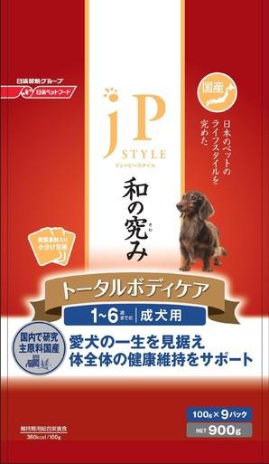 [日清ペットフード] ジェーピースタイル 和の究み トータルボディケア 1~6歳までの成犬用 900g
