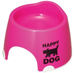 [伊勢藤] 小型犬専用 フードボール (すべり止め付)  ピンク