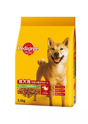 PDN3 ペディグリー 成犬用 旨みビーフ&緑黄色野菜入り 5.5kg