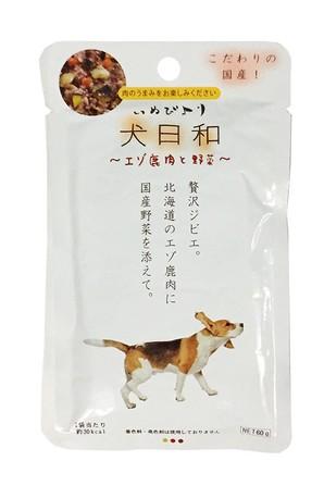 [わんわん] 犬日和 レトルト エゾ鹿肉と野菜 60g