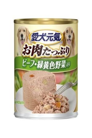 [ユニチャーム] 愛犬元気 缶 ビーフ&緑黄色野菜入り 375g