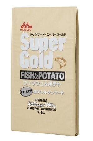 [森乳サンワールド] スーパーゴールド フィッシュアンドポテト 子犬・成犬用 7.5kg