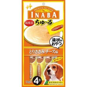 [いなばペットフード] INABA ちゅ~る とりささみチーズ味 14g×4本 D-104