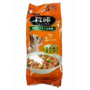 [ペットプロ] 旨味グルメパウチ 角切チキン&野菜 70g×3個パック