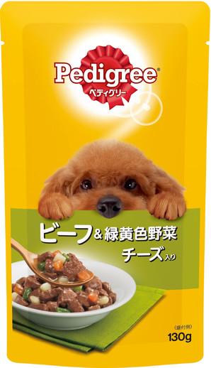P103 ペディグリー 成犬用 ビーフ&緑黄色野菜とチーズ入り 130g
