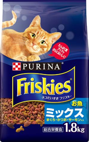 [ネスレピュリナ] フリスキードライ お魚ミックス 1.8kg