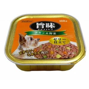 [ペットプロ] 旨味グルメトレイ チキン&野菜 100g