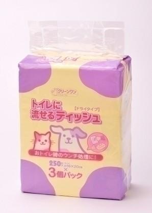 [シーズイシハラ] クリーンワン トイレに流せるティッシュ 250枚×3個パック
