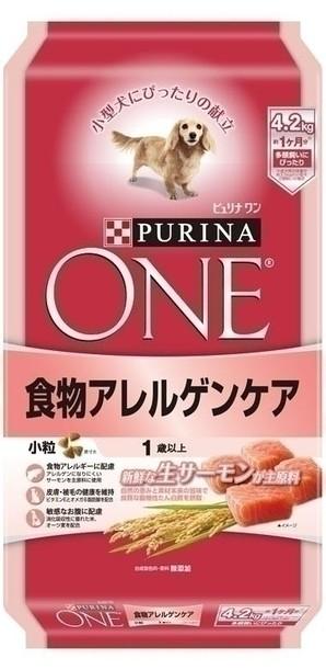 [ネスレピュリナ] ピュリナワン ドッグ 1歳以上 食物アレルゲンケア 小粒 サーモン 4.2kg