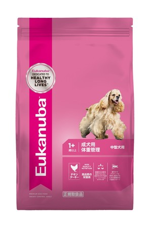 [ユーカヌバ] ミディアム ウェイトコントロール 成犬用 体重管理 中型犬用 1歳以上 2.7kg