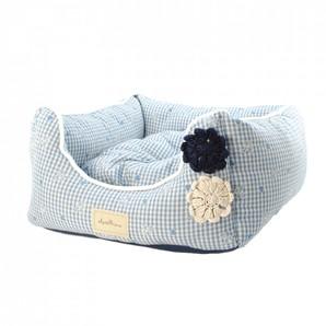 [ラブリー・ペット] Ante Prima アンテフラワー ベッド クッション付き ブルー Mサイズ