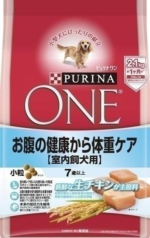 [ネスレピュリナ] ピュリナワン ドッグ 7歳以上 室内飼犬用 お腹の健康から体重ケア 小粒 チキン 2.1kg