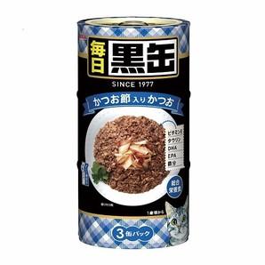 [アイシア] 毎日 黒缶 3P かつお節入りかつお 480g