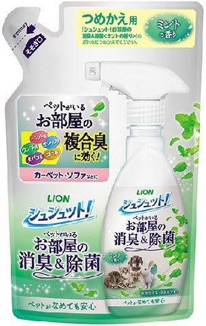 [ライオン商事] シュシュット! お部屋の消臭&除菌 ミントの香り詰め替え 320ml