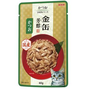 [アイシア] 金缶芳醇パウチ かつお 60g