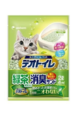 [ユニチャーム] 1週間消臭・抗菌デオトイレ 飛び散らない緑茶成分入り消臭サンド2L