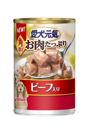 [ユニチャーム] R愛犬元気缶角切りビーフ入り375g