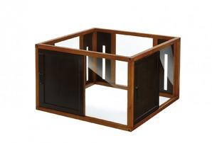 [リッチェル] 木製スクエアペットルーム90-90 ブラウン