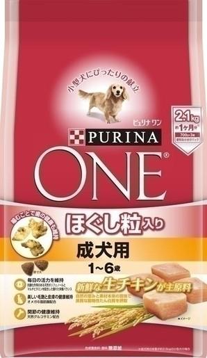 [ネスレピュリナ] ピュリナワン ドッグ ほぐし粒入り 1~6歳成犬用チキン 2.1kg