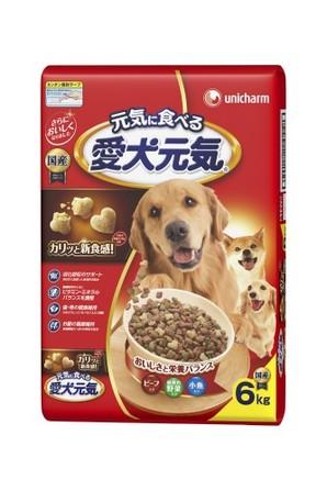 [ユニチャーム] 愛犬元気 ビ-フ・緑黄色野菜・小魚入り 6.0kg