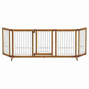 [リッチェル] ペット用 木製おくだけドア付ゲート L