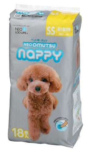 [コーチョー] NEO OMUTSU ネオ・オムツ Nappy SS18枚 超小型犬用